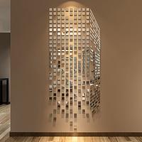 Новое поступление Рубик куб акриловое зеркало настенные наклейки для спальни ТВ настенные 3d настенные наклейки DIY Художественный Настенны...