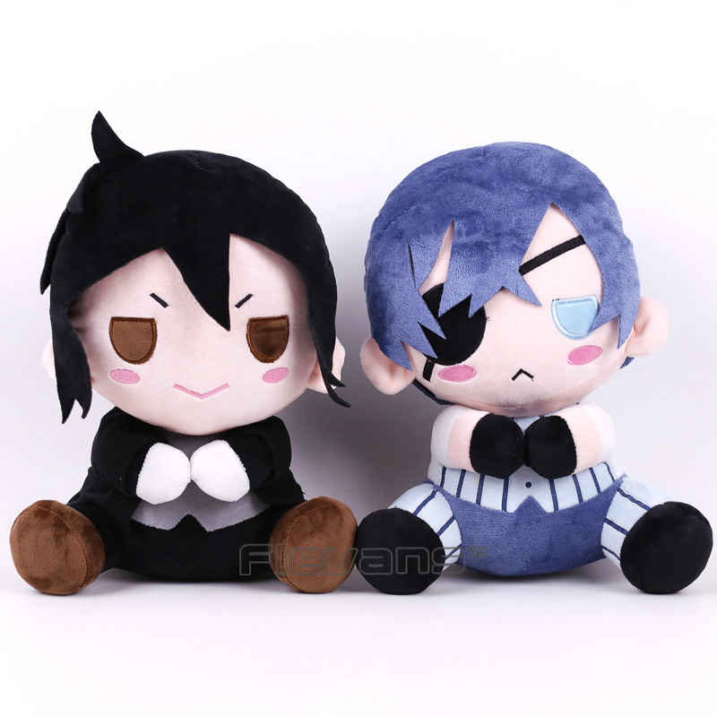 Black Butler Kuroshitsuji Ciel Sebastian Michaelis Plush Toy Soft Stuffed Animal Doll 12inch 30cm