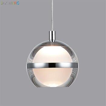 Modern Crystal Magic Ball Pendant Lights Nordic Design Dining Room Restaurant Bedroom Bedside Decoration Lamps Hanging Fixture