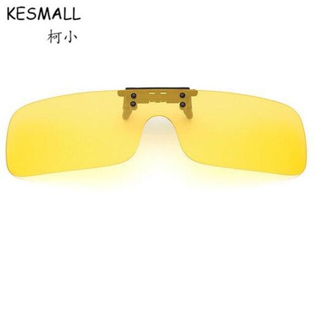 cc49a392b4 KESMALL Clip On Sunglasses Polarized Women Men Yellow Night Driving Lens  Sun Glasses UV400 TR90 Frame Eyewear Gafas De Sol YL421
