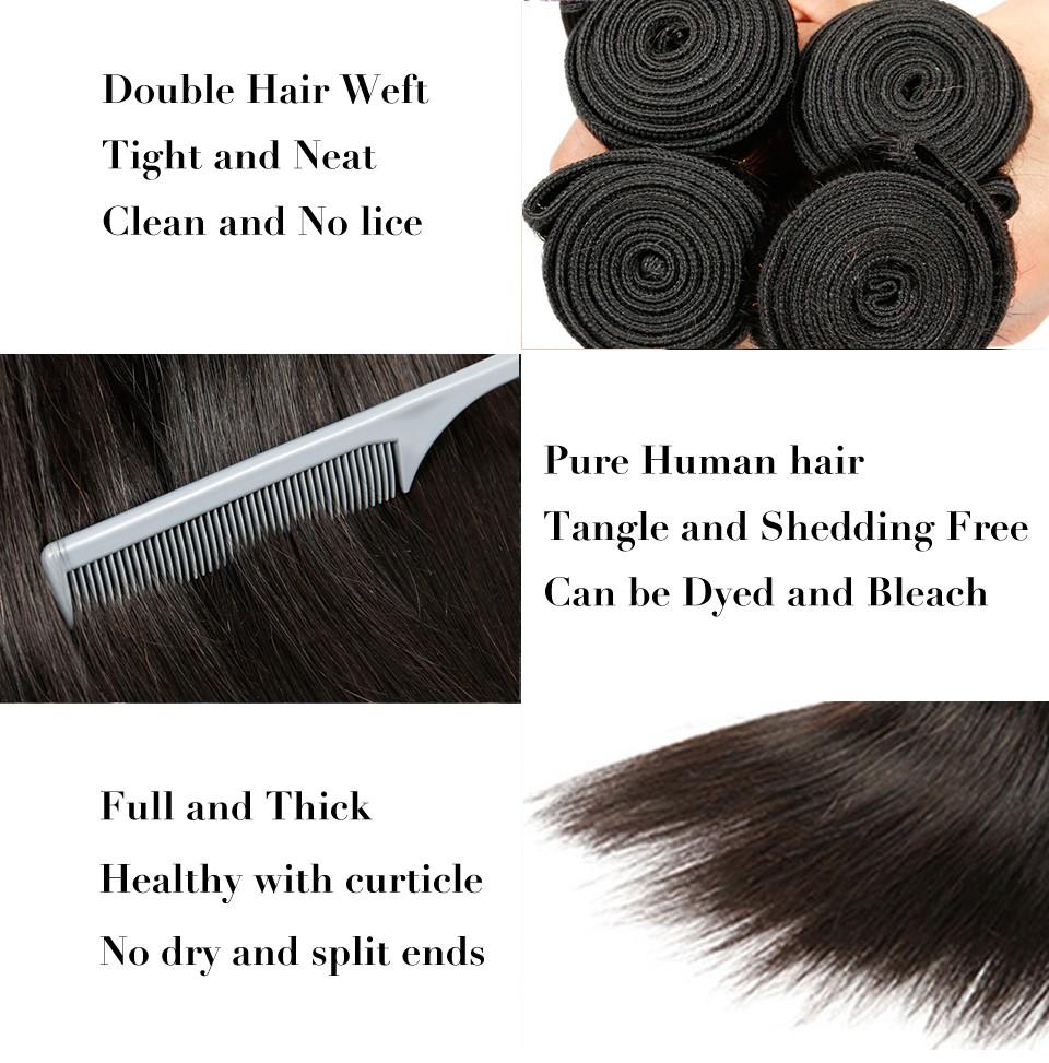 Brazilian Virgin Hair Straight 4 Bundles (7)