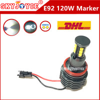 6X DHL Wholesale 120W Led Marker E60 Led Angel Eye Accessories Emblem H8 E60 Light Halo