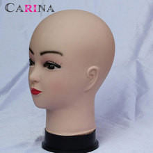 Free Shipping Mannequin Practice Training Heads Dummy Female Soft Cosmetology Head For Make Up