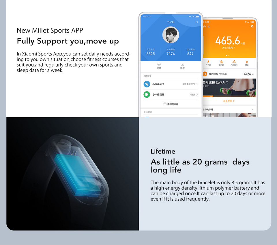 In Stock! Original Xiaomi Mi band 3 Xiomi Heart Rate Monitor Bluetooth 4.2 Xaomi Smart Sport Bracelet OLED Miband 3 Smartband  (11)