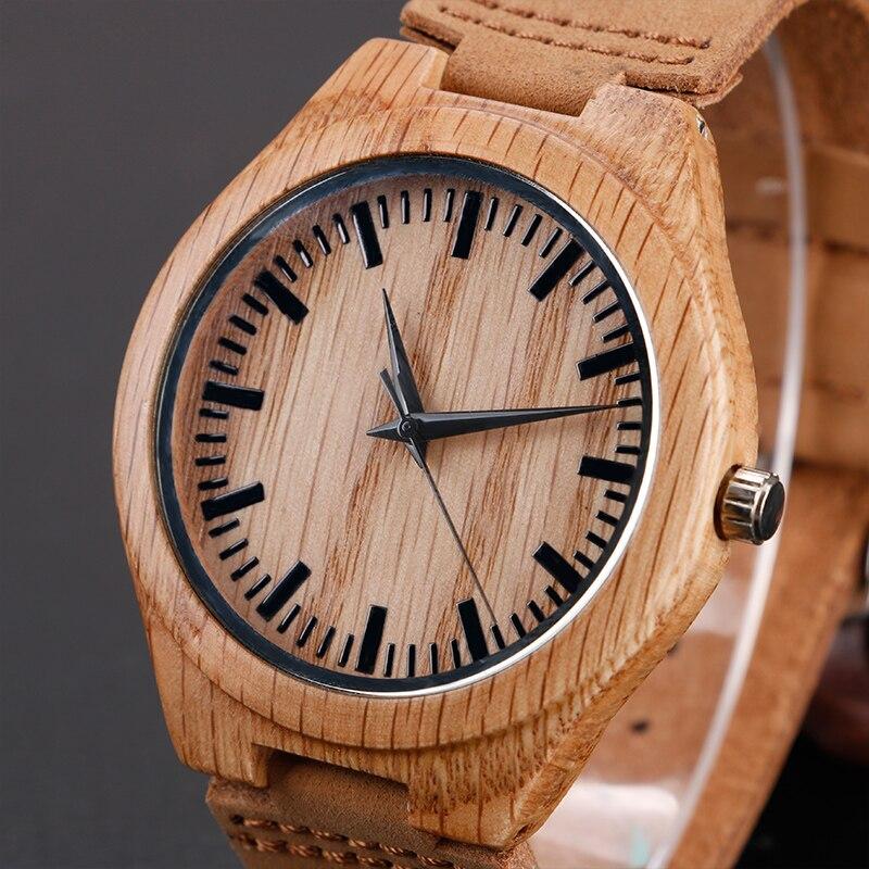 Ստեղծող պարզ փայտե ժամացույցներ - Տղամարդկանց ժամացույցներ - Լուսանկար 3
