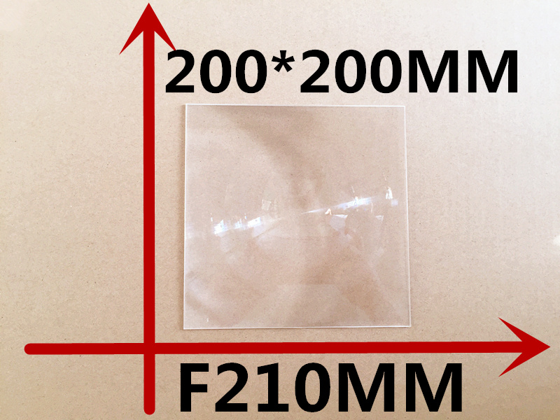 10 pcs free shipping quare Fresnel <font><b>Lens</b></font> 200*200MM Focal length 210mm Solar energy condenser <font><b>lens</b></font> Mobile <font><b>phone</b></font> <font><b>zoom</b></font> <font><b>lens</b></font>