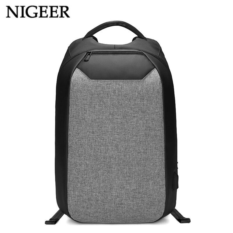 NIGEER Многофункциональный Рюкзак Путешествия Anti-theft 15,6 сумки для ноутбуков водоотталкивающая USB зарядка Порты и разъёмы подростковой школьн...
