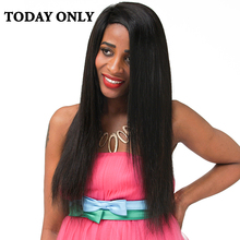 Today Only Brazilian Straight Human Hair Weave Bundles Non-remy Hair Extensions Tissage Bresilienne Natural Black Color 8″-28″