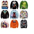 High Quality Boy Baseball Wear 3D Personalized Print Hip-Hop Hooded Spring and Autumn Fleece Sweater 11-20 years old