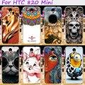 Жесткий Пластик и Мягкий ТПУ Телефон Обложка Для HTC DESIRE 620G HTC Desire 820 Mini D820mu Dual Sim Делам Прохладный Череп Мило миньоны
