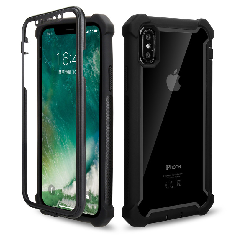 360 Degree Corner Cushion Shockproof Phone Case For iPhone X XR XS Max 6 6S 7 8 Plus 5S 5 SE Cover Shell TPU Protection Cases iphone