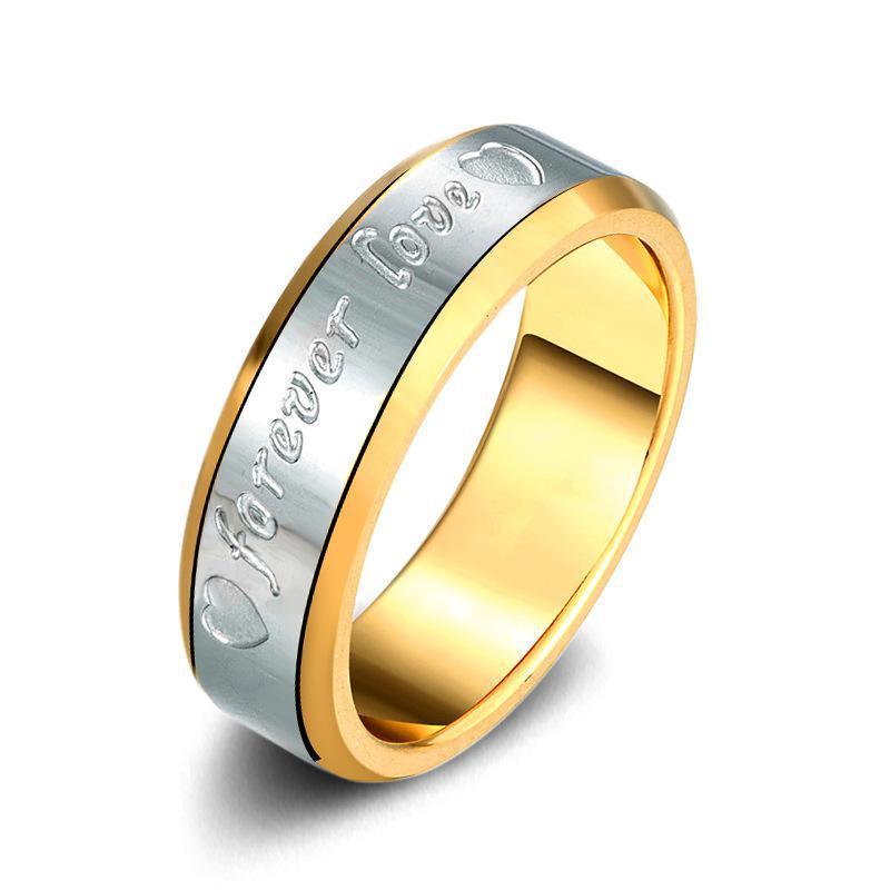 forever love Couples Ring Classic Steel Rings For Women Anel Men Jewelry Anillos Jewellery Aneis Bague Anelli Anillo love gift