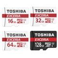 TOSHIBA Карты Памяти 16 Г/32 Г/64 Г/128 Г U3 SDHC SDXC Micro SD Class 10 флэш-Карты Microsd для Смартфонов Mp3 Tablet и Камеры