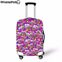 WHOSEPET 3D Cute Cats Printing Elastic Stretchable Dustproof Luggage Protective Covers for 18-30 Inch WomenTravel Case Covers