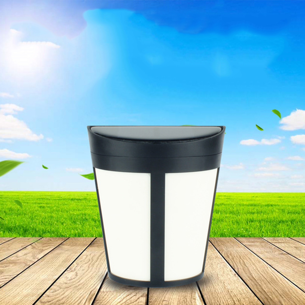 Online get cheap modern garden fence aliexpress alibaba group 6 led solar power light rechargeable sensor wall light warm white garden fence lamp for the baanklon Choice Image