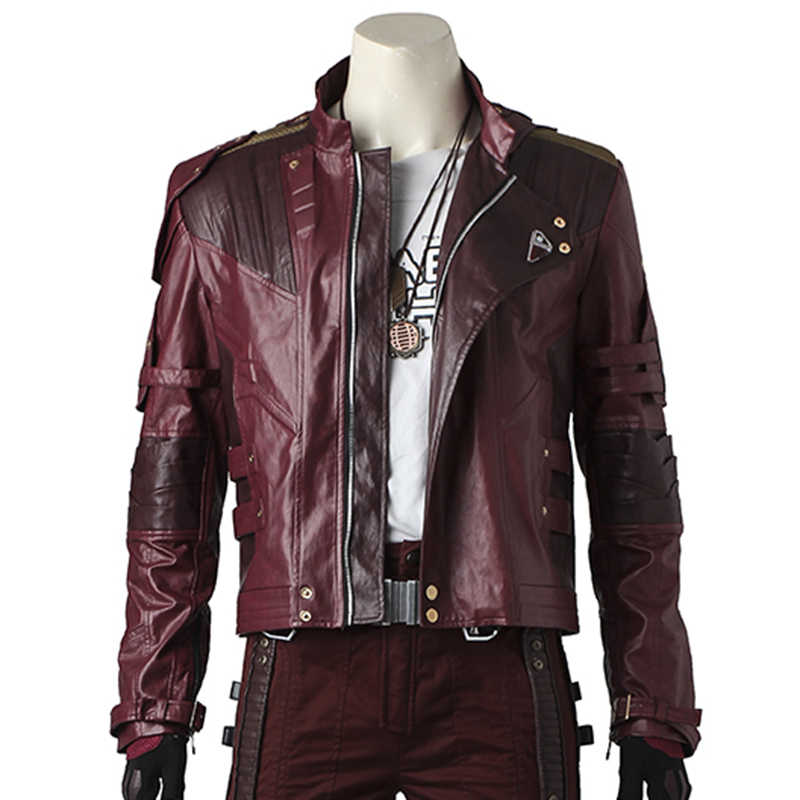 Star Lord Costume Cosplay Jacket Guardians of The Galaxy 2 Peter Quill Leather Coat  Pants Gloves Belt Props Outfit Custom Made