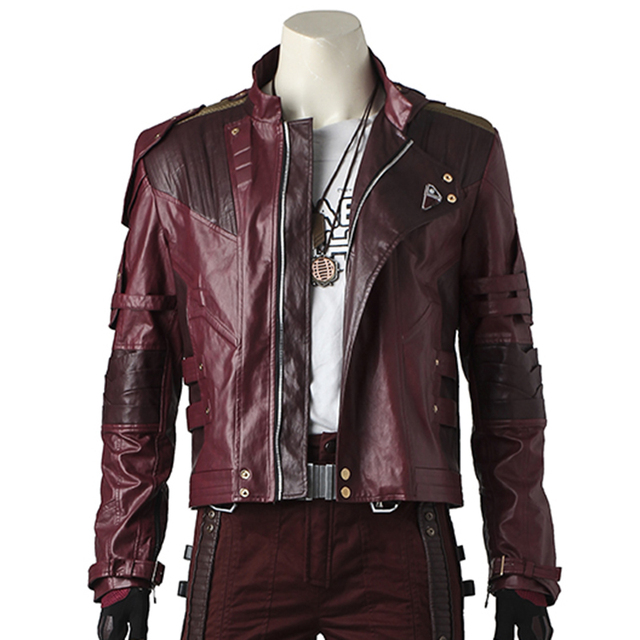 Star Lord Cosplay Jacket Guardians of The Galaxy 2 Costume Outfit Peter Quill Men Star Lord's Jacket Leather Outfit Custom Made