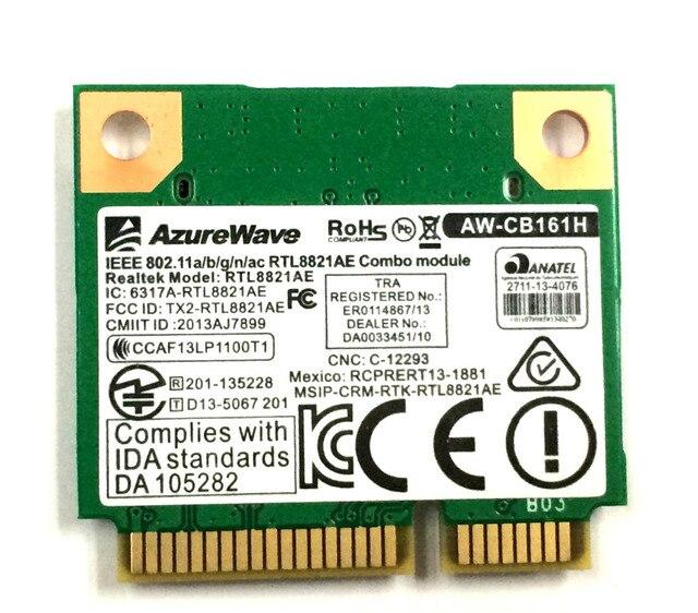 Nova placa de rede para Azurewave AW-CB161H Realtek RTL8821AE 802.11AC 433 Mbps wi fi sem fio Bluetooth 4.0 2.4 / 5.0 GHz testado bem
