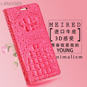 Image 5 - wangcangli genuine leather flip phone case Crocodile back texture For iphone 5 All handmade phone case