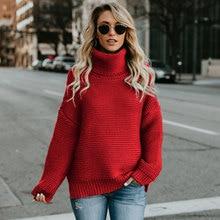 Women Turtleneck Sweater Winter Autumn High Neck Thermal Knitted Warm Pullover Windbreak Oversize Thicken Jumper