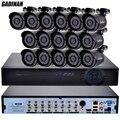 Gadinan 16 pcs ahdh 1080 p 2.0mp mini bala câmera à prova d' água ip65 ao ar livre indoor ahd camera 16ch ahdh/1080 p kit sistema dvr