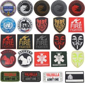 2020 Новый ПВХ Испания Флаг патч Викинг-Волк пожарный спасатель зеленый Вендетта бренд маска честь медаль военный значок тактика патч