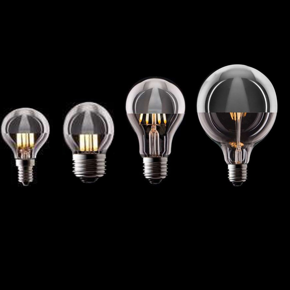 Vintage LED Filament Light Bulb,Edison A19 G45 G95 Style,Cown Silver 4W,6W,8W,2700K(Warm White),110V 220V AC,Dimmable high brightness 1pcs led edison bulb indoor led light clear glass ac220 230v e27 2w 4w 6w 8w led filament bulb white warm white