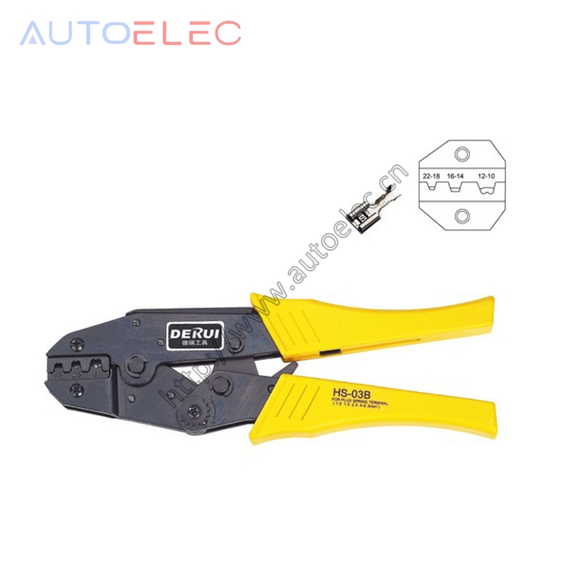 <font><b>HS</b></font>-<font><b>03B</b></font> EUROP STYLE RATCHET crimping tool crimping pliers 1.5-6mm2 multi tool tools hands pliers image