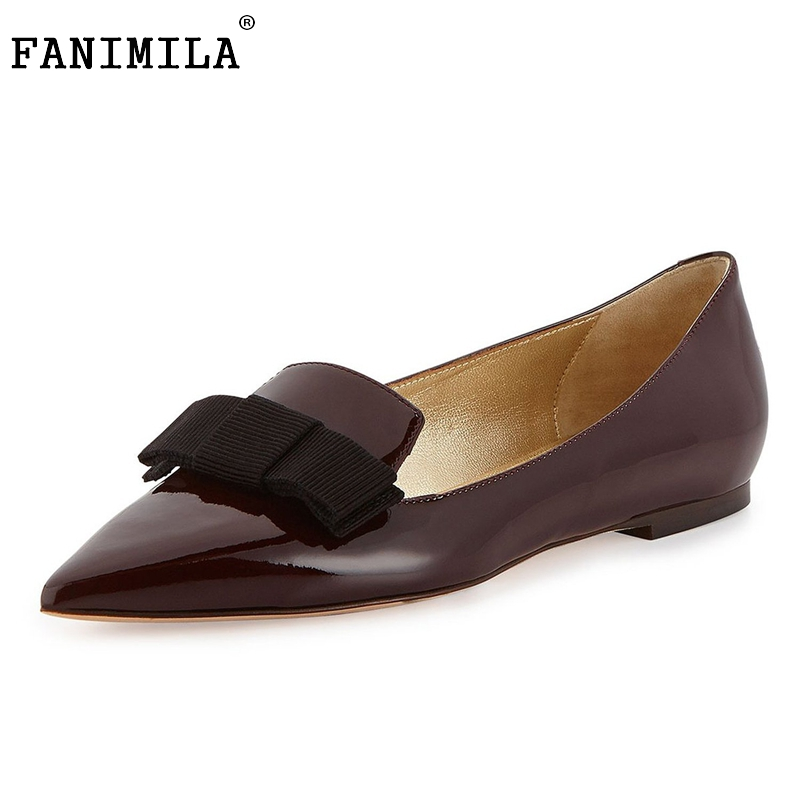 Fashion Women Shoes Woman Flats high quality Casual Comfortable pointed toe Bowknot Women Flat Shoe New Flats Size 35-46 B245 factory direct sale women cloth shoes new designer shoes bowknot casual shoes work flats
