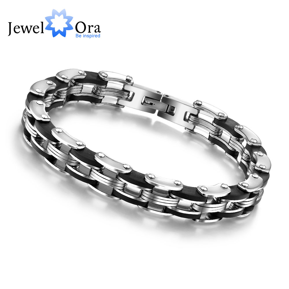 RVS armband en armband 210mm Strandtouw Charm Chain Armband herenarmbanden Cadeaus voor hem (JewelOra BA100159)