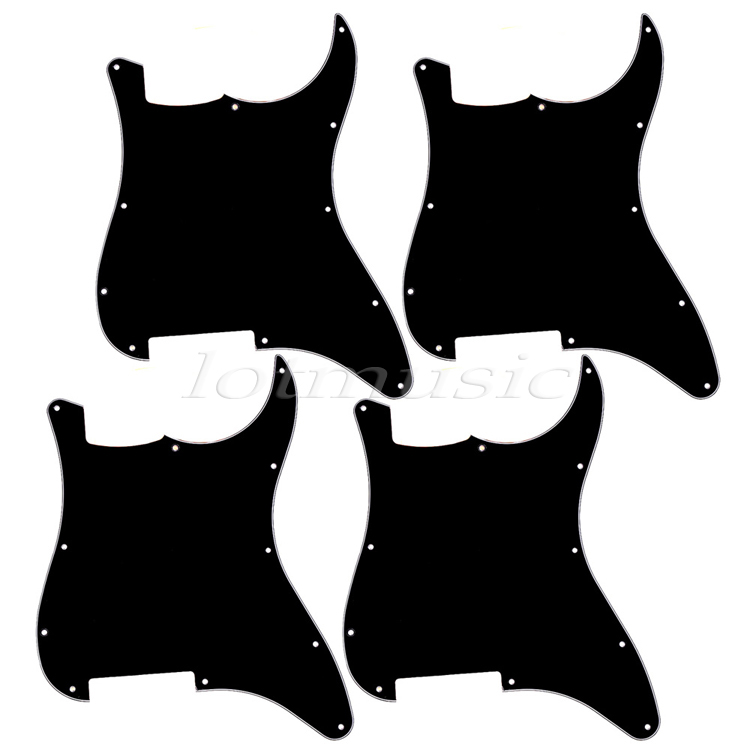 4x 3PLY Plate Pickguards For Strat replacement Black Electric Guitar Pick Guard