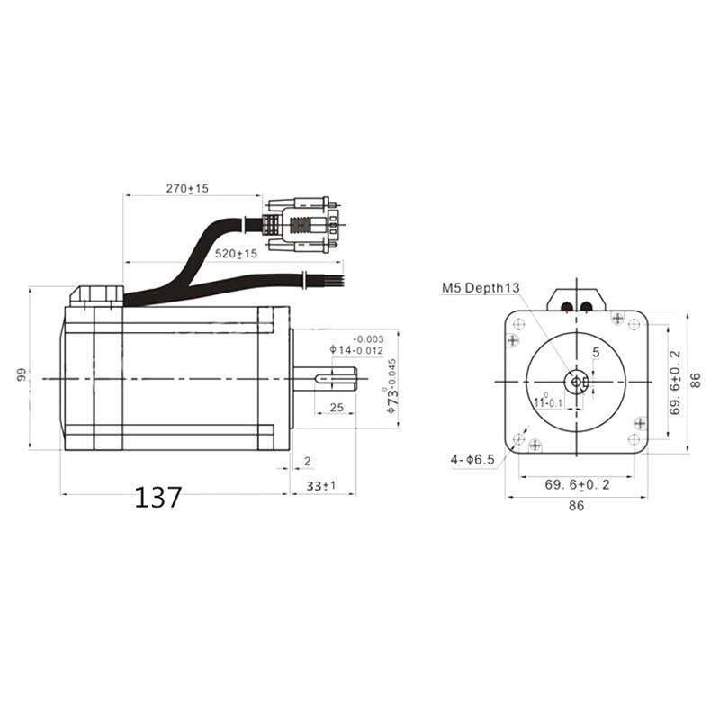 8.5 nm motor size