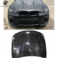 X5 X6 Carbon fiber V type engine hood cover bonnet hoods with car body kit for BMW X5 E70 X6 E71 09 14 car styling USE