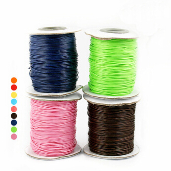 Wholesale 1.5mm Korea Wax String Cord Beading Wire Multi-purpose Rope 10m/lot Jewelry Thread Making For Diy Handmade Bracelet Jewelry & Accessories Beads & Jewelry Making
