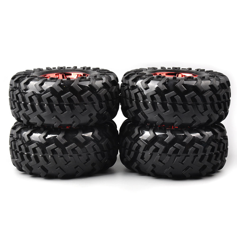 4 PCS/Set 12mm Hex Climbing Tire Rim For HSP Racing 1:10 RC Bigfoot Car truck 3001R rc car wheels cawanerl car canbus led package kit 2835 smd white interior dome map cargo license plate light for audi tt tts 8j 2007 2012