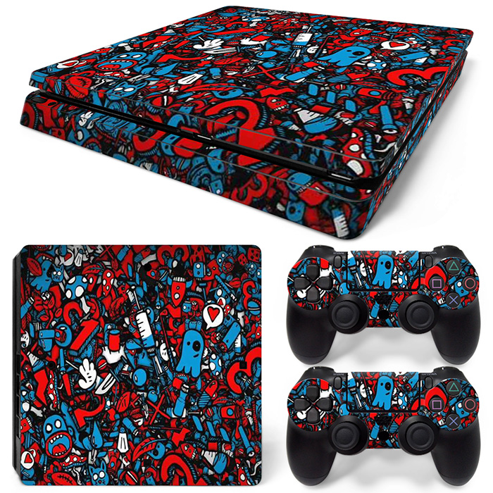 Free Drop Shipping for PS4 Slim Vinyl Skin Decal Console Sticker TN-P4Slim-20023
