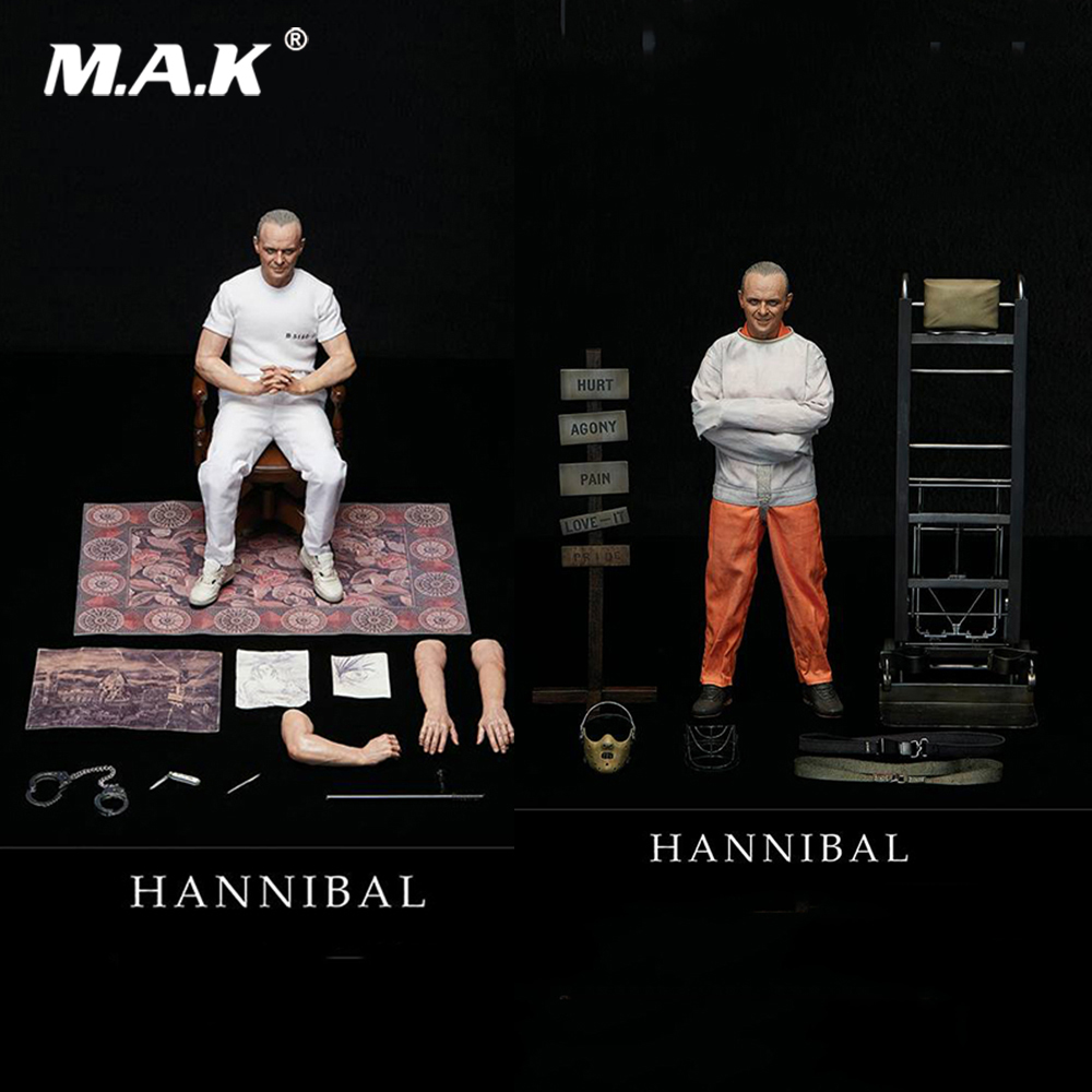 For Collection 1/6 Full Set The Silence of the Lambs 1991 Hannibal Lecter White Prison Uniform Ver./ Straitjacket Ver.