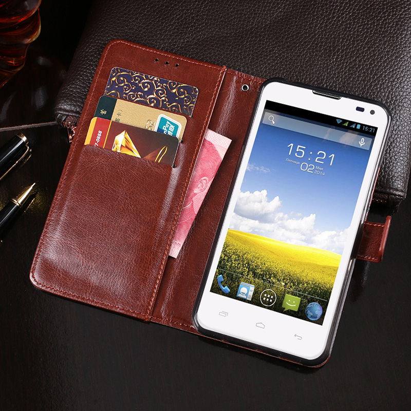 IDEWEI for Fly IQ4415 Case Business Style Stand Flip Wallet Leather Phone Bags Cover for Fly Era Style 3 IQ4415 Case Accessories
