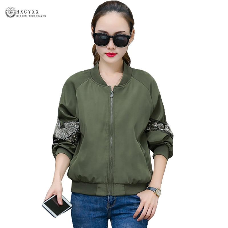 Vintage Embroidery   Basic     Jacket   Coat Autumn 2019 Streetwear Satin Bomber   Jacket   Women Clothes Korean Harajuku Plus Size B221