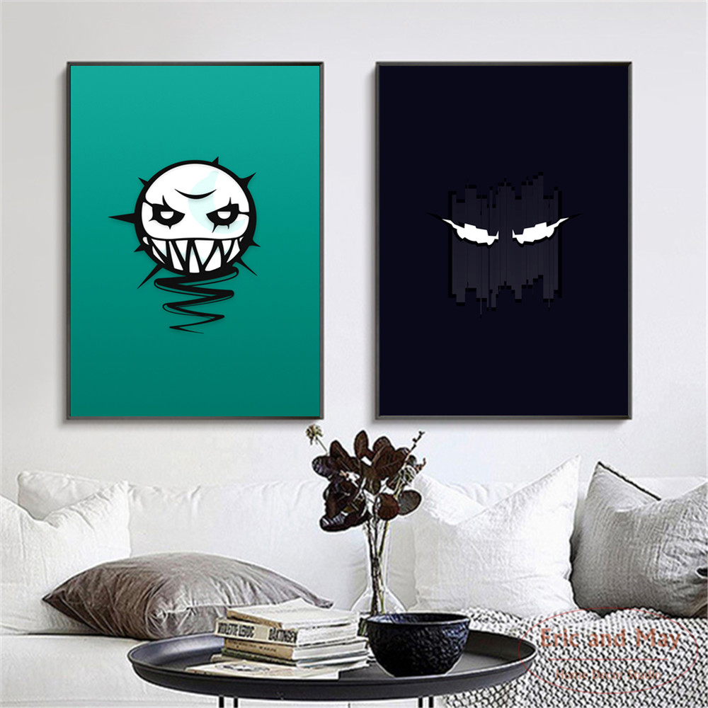 Minimalist Rainbow Six Siege Logo Canvas Art Print Painting Modern Wall Picture Home Decor Bedroom Decorative Posters No Frame
