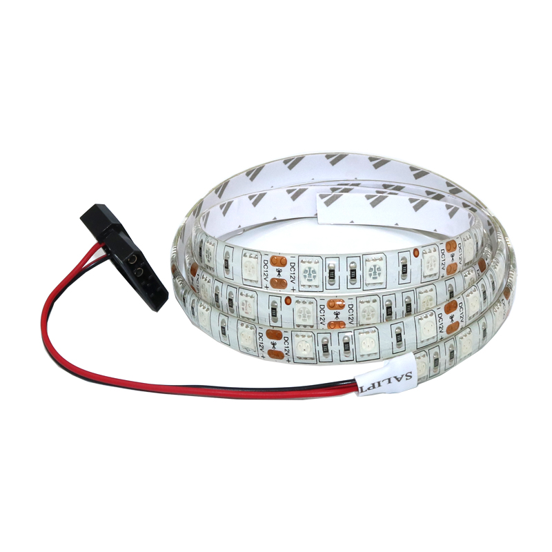 цена на 5050 SMD Flexible LED Strip Light 12V DC Background PC Computer Case Adhesive Strip Light Waterproof 50/100/120/200cm tape lamp