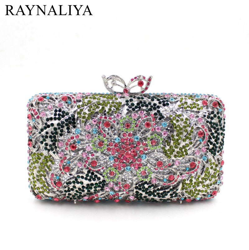 Minaudiere Diamonds Floral Fashion Crystal Party Clutch Bags Luxury Bling Evening Bag Women Bridal Handbag Smyzh-e0315 new women handmade prom clutch evening bag luxury party bags lady crystal minaudiere diamonds day clutches smyzh e0067