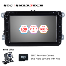 SMARTECH 2 Din Android 7.1 Car Audio GPS system autoradio for VW Volkswagen passat b6 golf 5 polo jetta Skoda 2GB RAM 16GB ROM