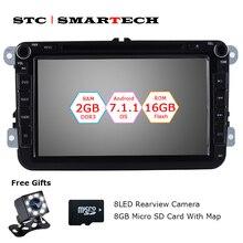 Smartech 2 DIN Android 7.1 автомобиль DVD GPS навигации Авторадио для Фольксваген Passat B6 Гольф 5 поло JETTA SKODA 2 ГБ Оперативная память 16 ГБ Встроенная память