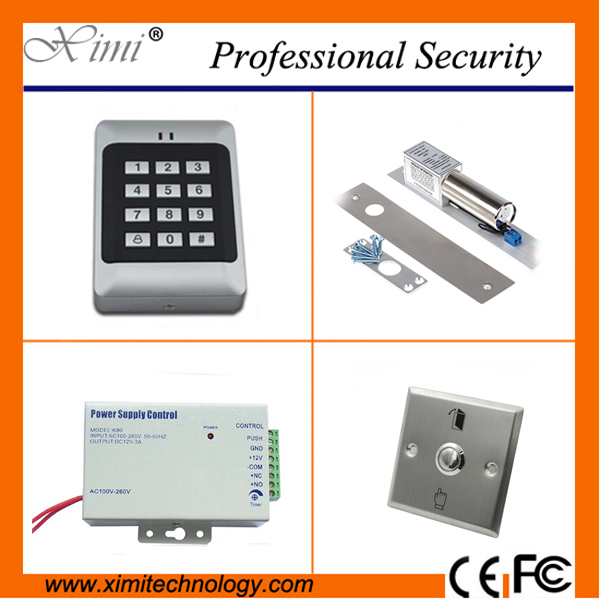 Standlone access control without software 1000 card capacity with electric lock switch button F005 single door access control cheap standalone without software f008 card access control single door access control with electromagnetic lock