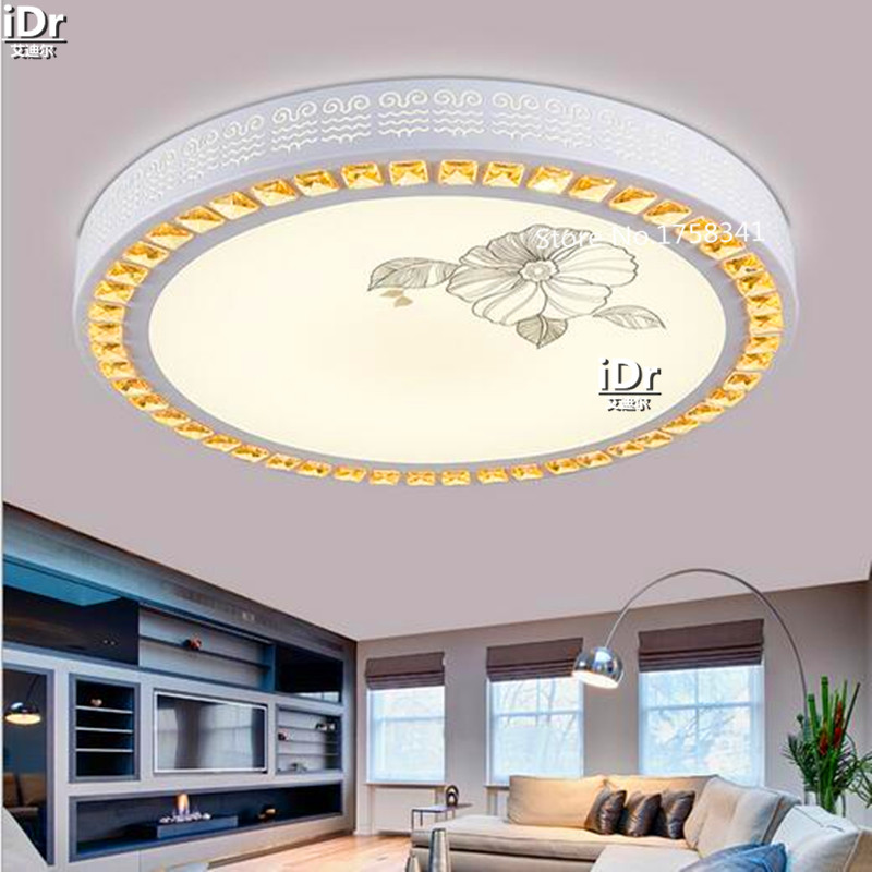 crystal  lamp Upscale atmosphere living room bedroom restaurant porch lamp creative lamp lighting Ceiling Lights Dia600xH100mm upscale atmosphere bedroom crystal light led crystal lamp round lamp minimalist bedroom balcony aisle lights ceiling lights