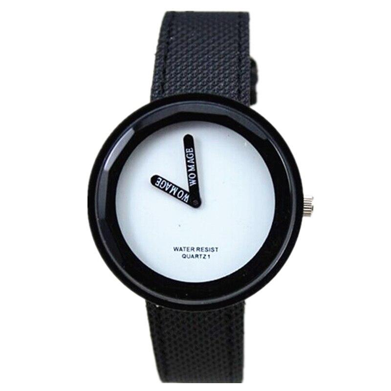 Womage marque nouveautés lady mode 15 couleur nylon bande robe montre analogique 2 mains affichage femmes occasionnels montres à quartz