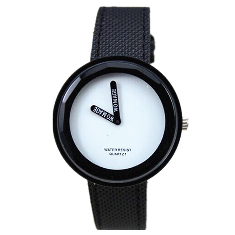 womat brand nou sosiri doamna moda 15 colorate nylon bandă rochie ceas analogic 2 maini afișa femei casual quartz ceasuri de mână