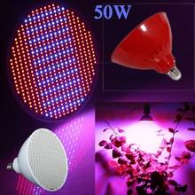 New Hydroponics Lighting AC85-265V 50W E27 Red/Blue SMD3528 500 Leds Hydroponic LED Plant Grow Lights Lamps Led Bulb LED Light