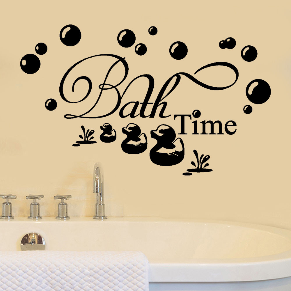 US $0 62 |Bath Time Wall Sticker Living Room Bedroom Bible Verse Quote Wall  Decal Vinyl Home Decor Art Mural #-in Wall Stickers from Home & Garden on
